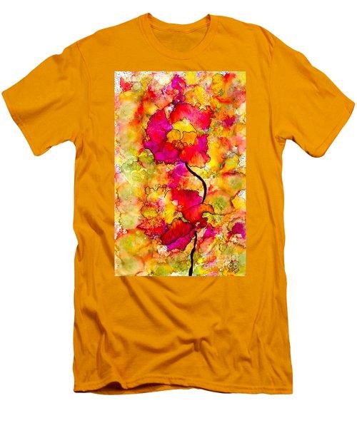 Floral Duet Men's T-Shirt (Athletic Fit)