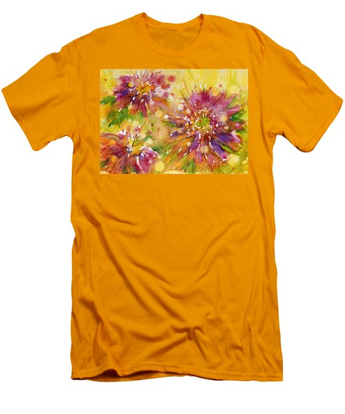 Floral Fireworks Men's T-Shirt (Athletic Fit)