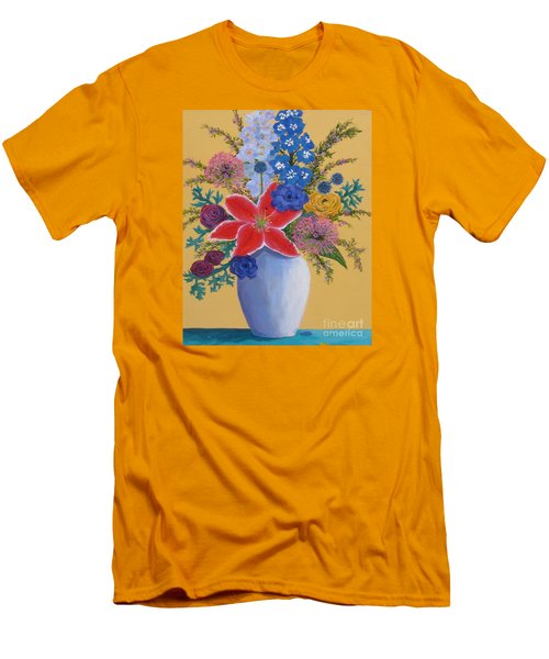 Florist's Creation Men's T-Shirt (Slim Fit) by Anne Marie Brown
