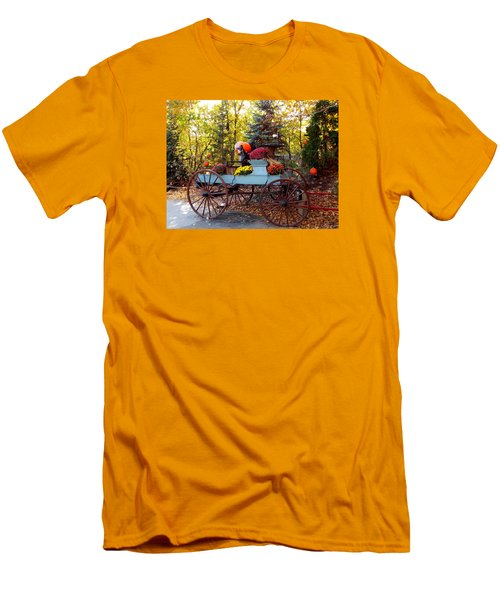 Flower Filled Wagon Men's T-Shirt (Slim Fit) by Catherine Gagne