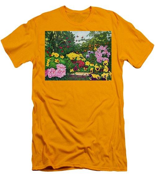 Flower Garden Xii Men's T-Shirt (Athletic Fit)
