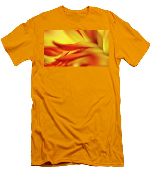Flowing Floral Fire Men's T-Shirt (Slim Fit) by Tony Locke