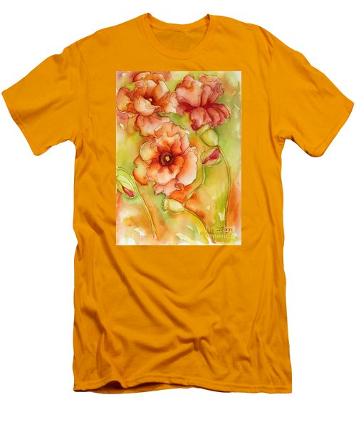Flying With The Wind Poppies Men's T-Shirt (Slim Fit) by Inese Poga