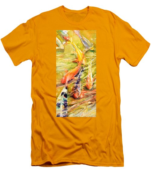 Follow The Leader Men's T-Shirt (Slim Fit) by Judith Levins
