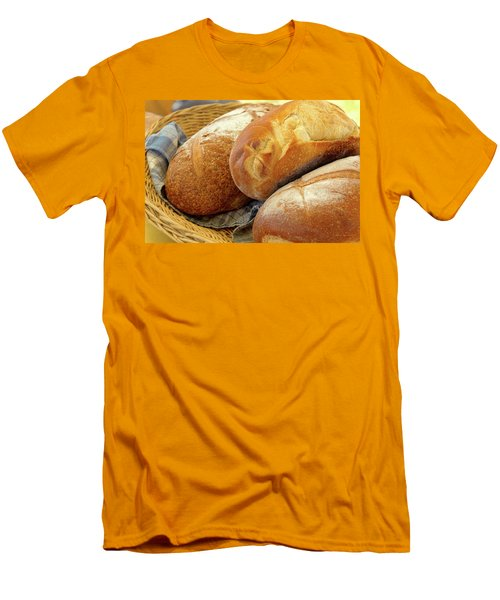 Men's T-Shirt (Slim Fit) featuring the photograph Food - Bread - Just Loafing Around by Mike Savad