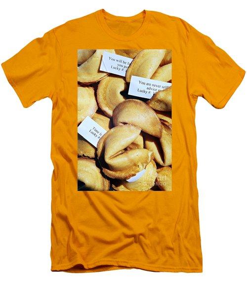 Fortune Cookie Men's T-Shirt (Slim Fit) by Vivian Krug Cotton