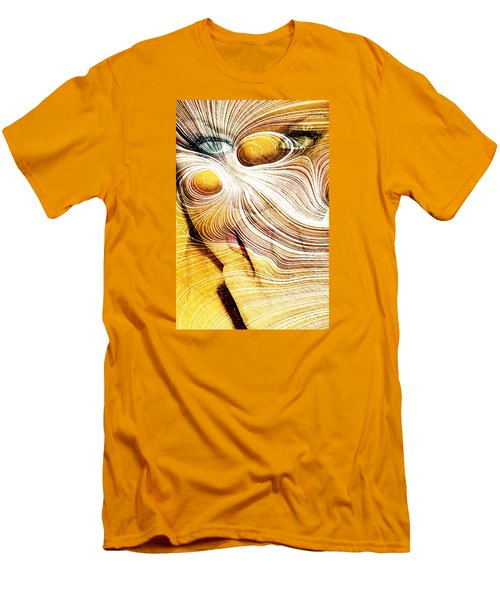 Four Yellow Eyes Men's T-Shirt (Slim Fit) by Andrea Barbieri