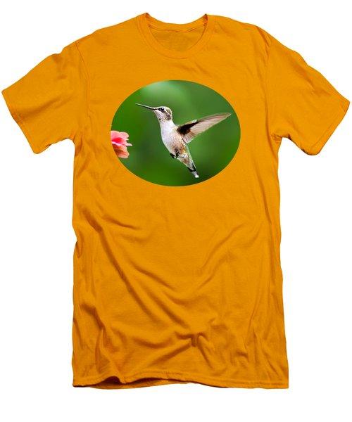 Free As A Bird Hummingbird Men's T-Shirt (Slim Fit) by Christina Rollo