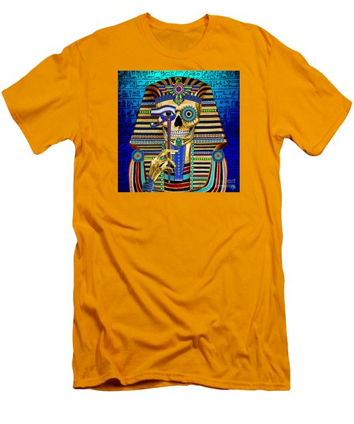 Funky Bone Pharaoh Men's T-Shirt (Slim Fit) by Christopher Beikmann