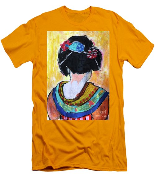 Geisha Girl  Men's T-Shirt (Athletic Fit)