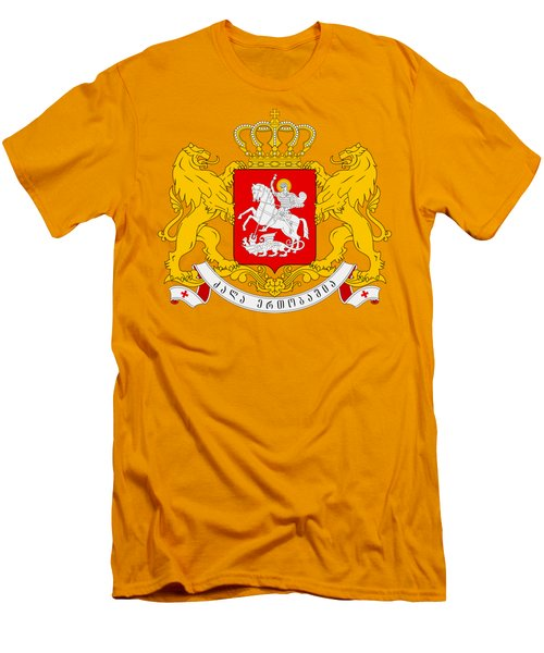 Georgia Coat Of Arms Men's T-Shirt (Slim Fit) by Movie Poster Prints