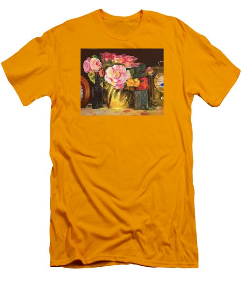 Men's T-Shirt (Athletic Fit) featuring the painting Gift Of Time by Marlene Book