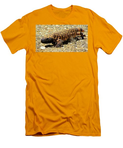 Gila Monster On The Prowl Men's T-Shirt (Slim Fit) by Brenda Pressnall