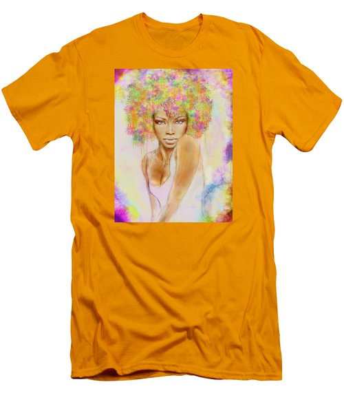 Girl With New Hair Style Men's T-Shirt (Slim Fit) by Lilia D