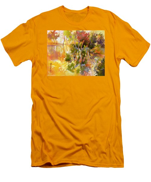 Men's T-Shirt (Slim Fit) featuring the painting Glow by Rae Andrews