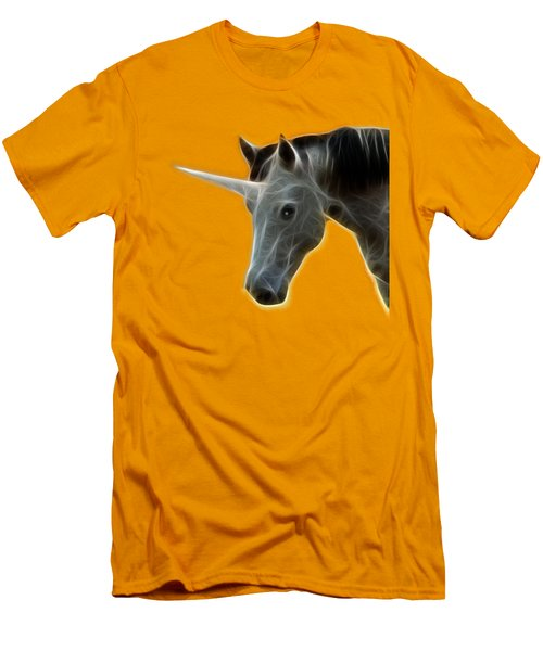 Glowing Unicorn Men's T-Shirt (Slim Fit) by Shane Bechler