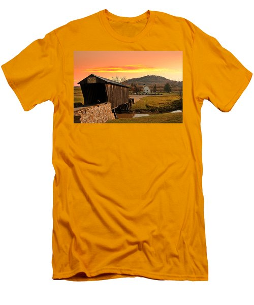 Goddard White Bridge And Church  Men's T-Shirt (Athletic Fit)