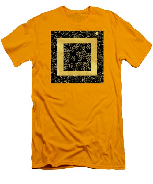 Gold And Black Men's T-Shirt (Slim Fit) by Bonnie Bruno