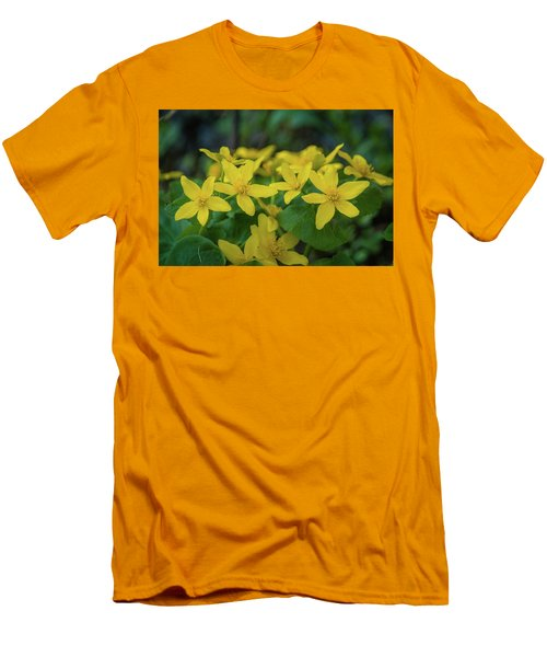 Men's T-Shirt (Slim Fit) featuring the photograph Gold In The Marsh by Bill Pevlor