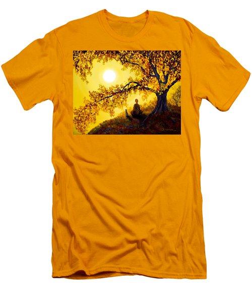 Golden Afternoon Meditation Men's T-Shirt (Slim Fit) by Laura Iverson