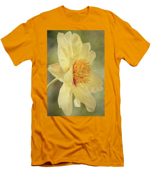 Golden Bowl Tree Peony Bloom - Profile Men's T-Shirt (Slim Fit) by Patti Deters