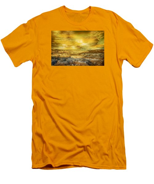 Golden Colors Of Desert Men's T-Shirt (Athletic Fit)