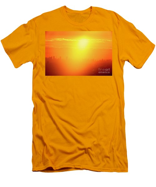 Golden Light Men's T-Shirt (Slim Fit) by Tatsuya Atarashi