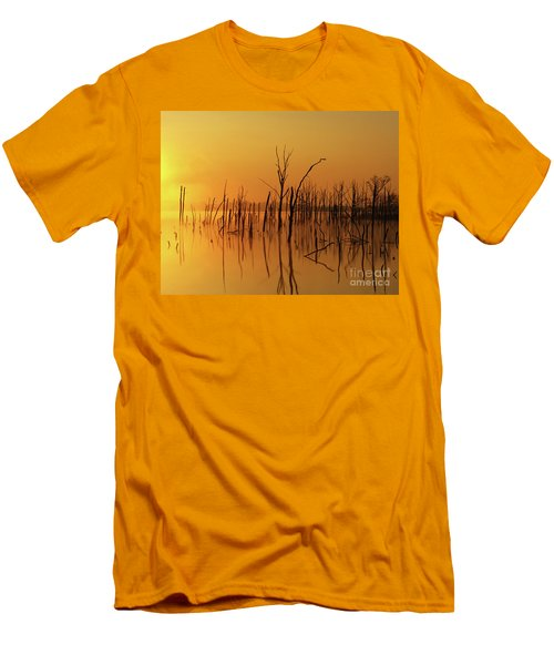 Golden Reflections Men's T-Shirt (Slim Fit) by Roger Becker