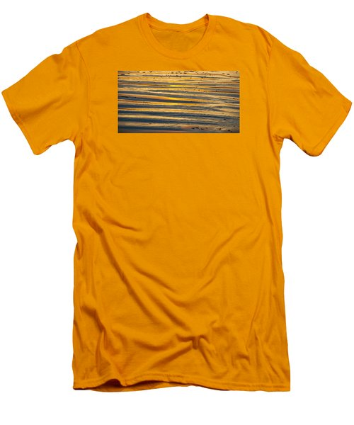 Golden Sand On Beach Men's T-Shirt (Athletic Fit)