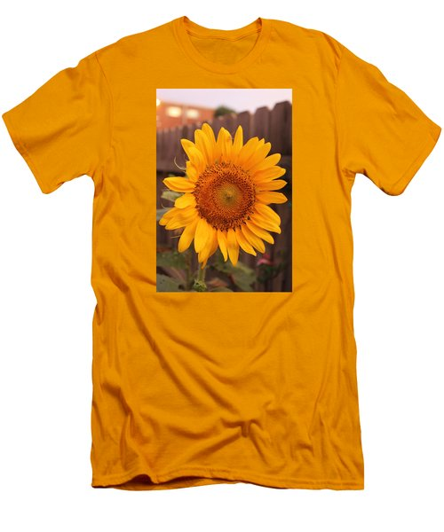 Golden Sunflower Closeup Men's T-Shirt (Athletic Fit)