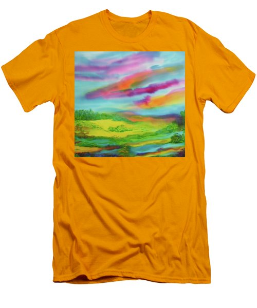 Men's T-Shirt (Slim Fit) featuring the painting Escape From Reality by Susan D Moody