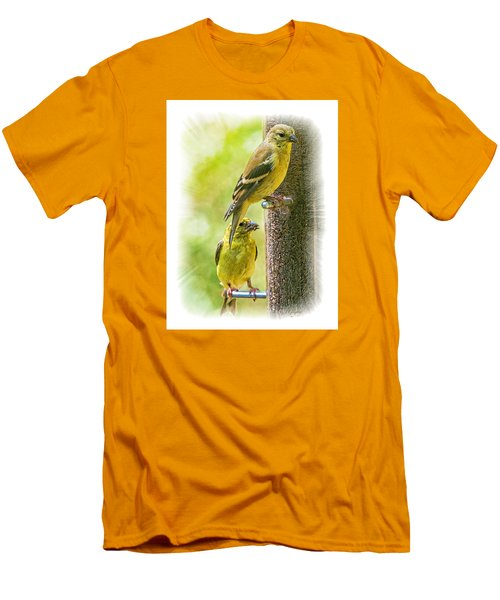 Goldfinches Men's T-Shirt (Slim Fit) by Constantine Gregory