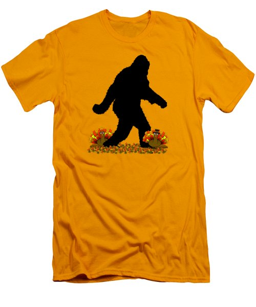 Gone Thanksgiving Squatchin' Men's T-Shirt (Slim Fit) by Gravityx9   Designs
