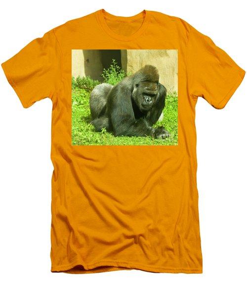 Gorilla Men's T-Shirt (Slim Fit) by Irina Afonskaya
