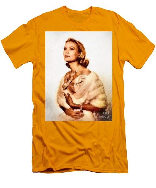 Grace Kelly, Vintage Actress By John Springfield Men's T-Shirt (Slim Fit)
