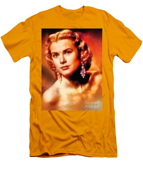 Grace Kelly, Vintage Hollywood Actress Men's T-Shirt (Slim Fit) by Frank Falcon