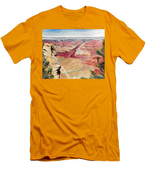 Grand Canyon Overlook Men's T-Shirt (Slim Fit) by Sherril Porter