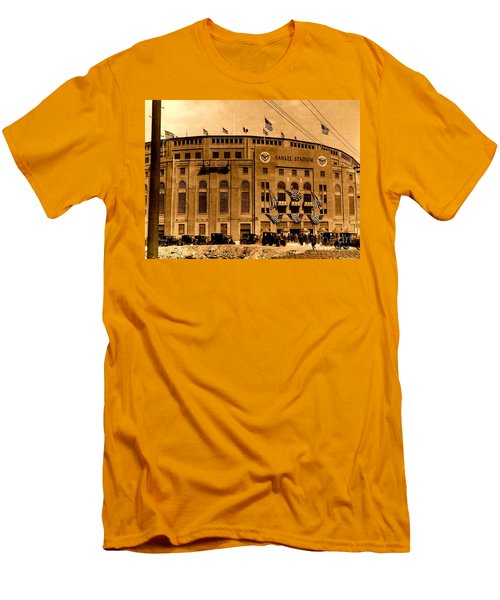 Men's T-Shirt (Athletic Fit) featuring the photograph Grand Opening Of Old Yankee Stadium April 18 1923 by Peter Gumaer Ogden Collection