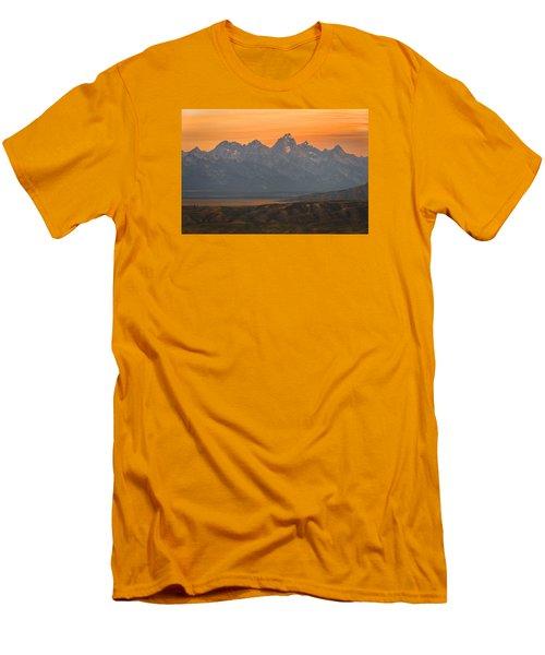 Grand Teton Sunset Men's T-Shirt (Slim Fit) by Serge Skiba