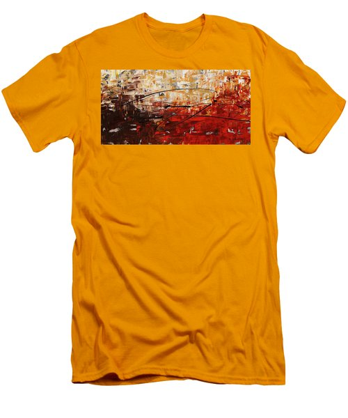 Men's T-Shirt (Slim Fit) featuring the painting Grand Vision by Carmen Guedez