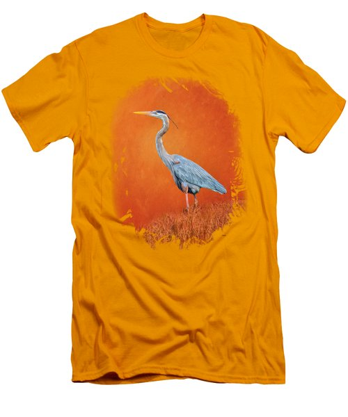 Great Blue Abstract 2 Men's T-Shirt (Slim Fit) by John M Bailey
