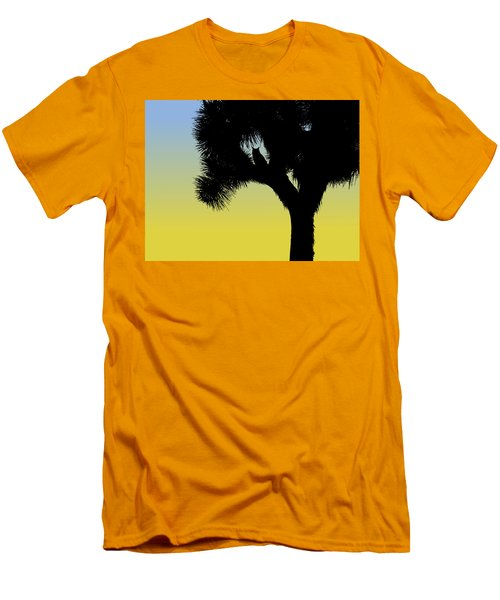 Great Horned Owl In A Joshua Tree Silhouette At Sunrise Men's T-Shirt (Athletic Fit)