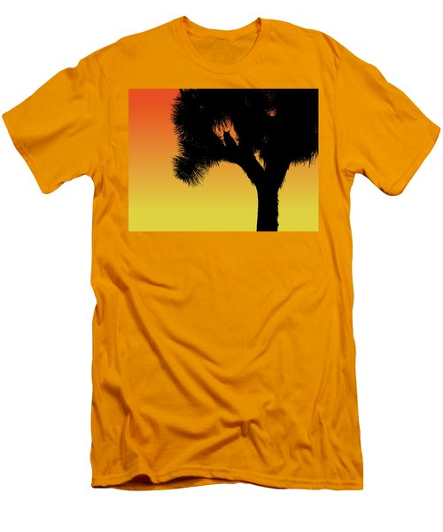 Great Horned Owl In A Joshua Tree Silhouette At Sunset Men's T-Shirt (Athletic Fit)
