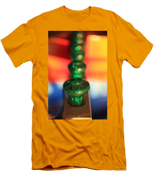 Men's T-Shirt (Athletic Fit) featuring the photograph Green Lights by Lora Lee Chapman