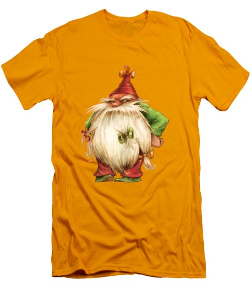 Grumpy Gnome Men's T-Shirt (Slim Fit) by Andy Catling