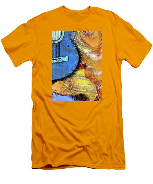 Men's T-Shirt (Slim Fit) featuring the painting Guitar Music by Allison Ashton