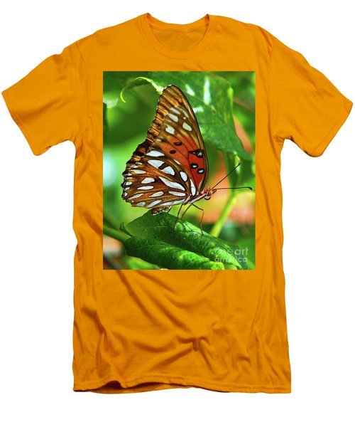Gulf Fritillary Men's T-Shirt (Athletic Fit)