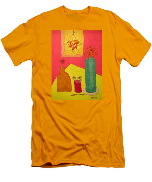 Hanging Plant And 3 On Table Men's T-Shirt (Athletic Fit)