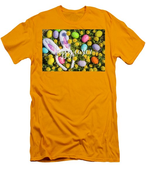 Men's T-Shirt (Slim Fit) featuring the photograph Happy Easter by Teri Virbickis