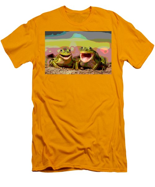 Happy Frog Men's T-Shirt (Slim Fit) by Charles Shoup